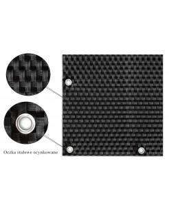 Osłona Balkonowa Mata Technorattanowa kolor czarny oczkowana RD04