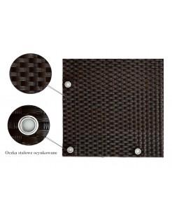 Osłona Balkonowa Mata Technorattanowa kolor brązowy jasny z ciemnym oczkowana RD06