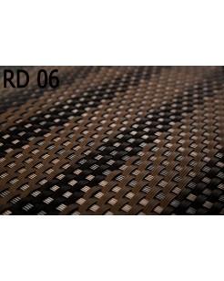 Osłona Balkonowa Mata Technorattanowa brąz jasny z ciemnym RD06